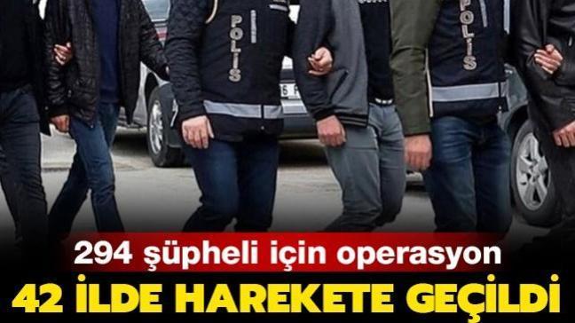 FETÖ'nün TSK yapılanmasına operasyon: 42 ilde, 294 şüpheli için yakalama kararı