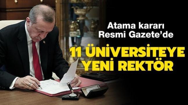 11 üniversiteye yeni rektör: Atama kararları Resmi Gazete'de