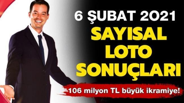 MPİ Sayısal Loto 6 Şubat 2021 sonuçları