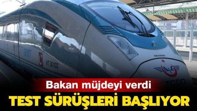Bakan müjdeyi verdi: Konya- Karaman YHT test sürüşleri başlıyor