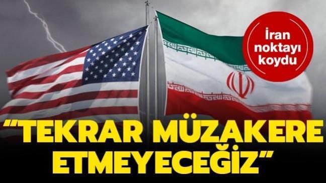 İran noktayı koydu: Nükleer anlaşmayı tekrar müzakere etmeyeceğiz