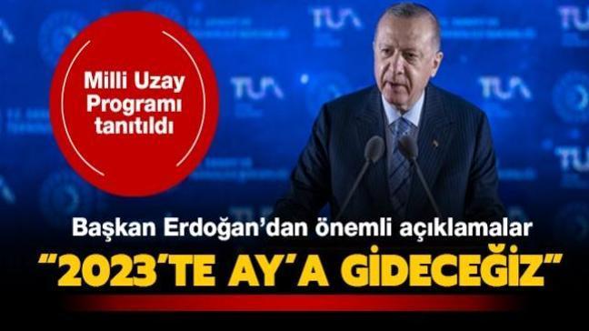 Başkan Erdoğan'dan önemli açıklamalar... Milli Uzay Programı tanıtıldı