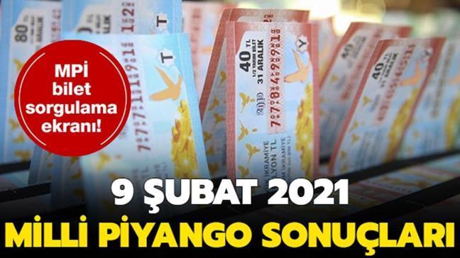 9 Şubat Milli Piyango çekiliş sonuçları tam liste: Milli Piyango sonuçları sorgulama 2021!
