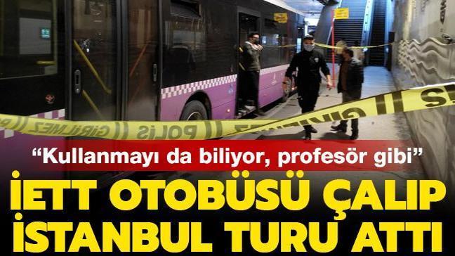 Kadıköy'den otobüs çalıp Taksim'e gitti
