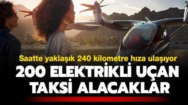 Hava yolu şirketi trafiğe maruz kalan yolcuları için 200 elektrikli uçan taksi alacak