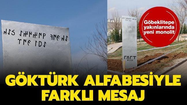 Şanlıurfa'daki bir parka belediye tarafından yeni bir monolit dikildi