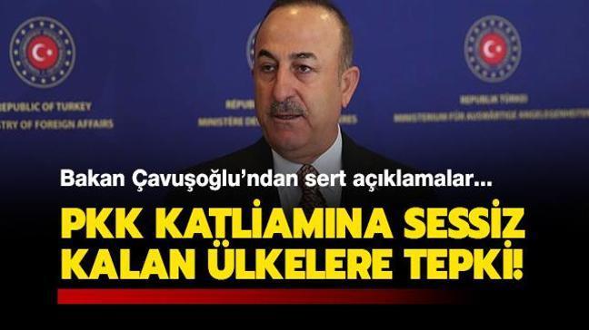 Çavuşoğlu'ndan PKK katliamına sessiz kalan ülkelere: Şehitlerimizin kanı yerde kalmayacak!