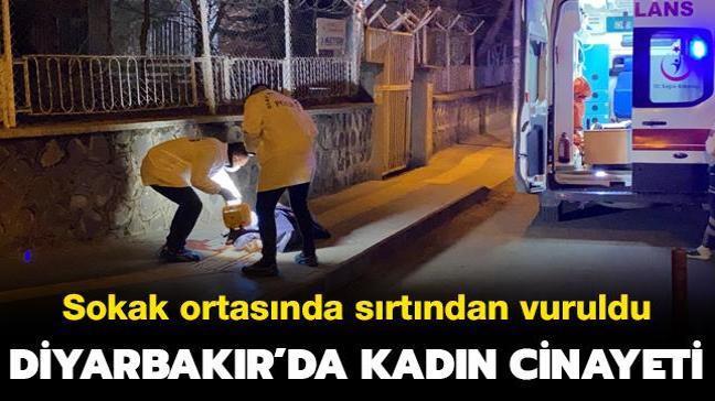Diyarbakır'da kadın cinayeti... Sokak ortasında sırtından vuruldu