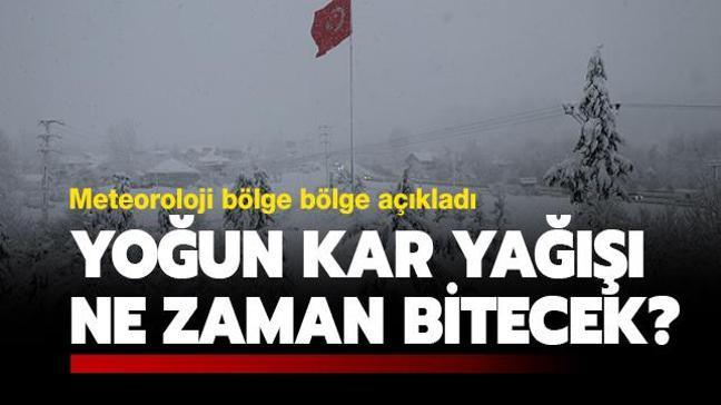 """Meteoroloji'den son dakika uyarıları! Kar yağışı ne kadar sürecek"""""""