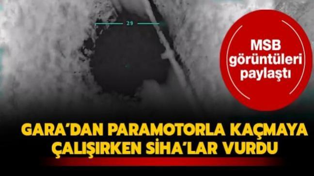 MSB görüntüleri paylaştı... PKK'lı teröristler SİHA'lar tarafından etkisiz hale getirildi