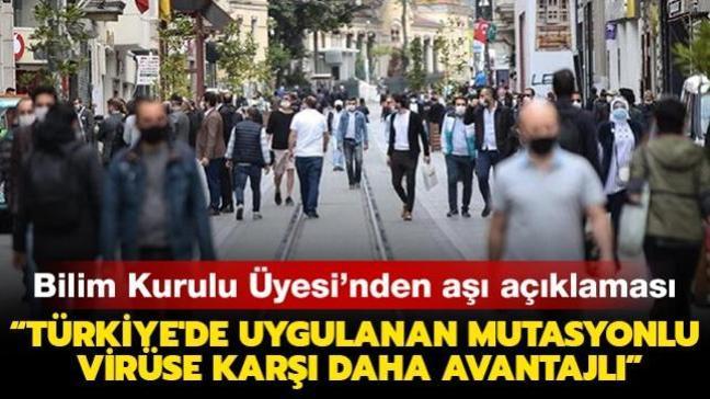"""Bilim Kurulu Üyesi Gündüz'den aşı açıklaması: """"Türkiye'de uygulanan mutasyonlu virüse karşı daha avantajlı"""""""