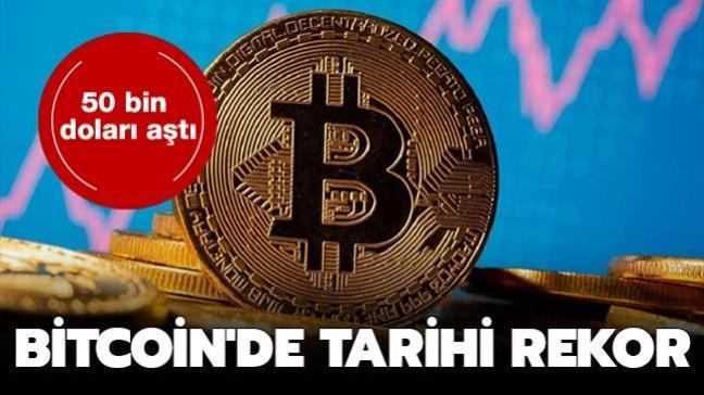 Bitcoin'de tarihi rekor: 50 bin doları aştı