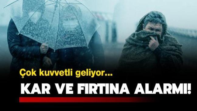 Meteoroloji'den sarı ve turuncu uyarı! İstanbul'da da kar yağışı devam edecek!