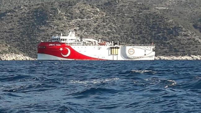 Sismik araştırma gemisi Oruç Reis Demre'de