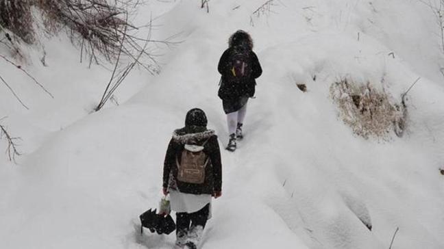 Erzincan, Ardahan, Artvin, Tokat ve Mudanya'da yüz yüze eğitime kar engeli