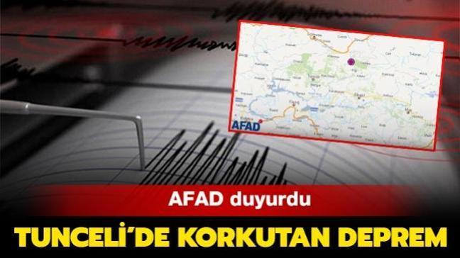 Son dakika haberleri... Tunceli'de 4.1 büyüklüğünde deprem