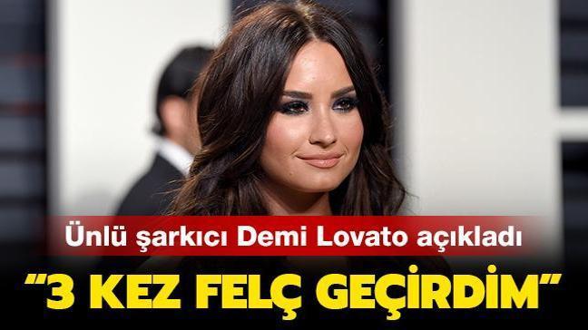 """Ünlü şarkıcı Demi Lovato açıkladı: """"3 kez felç geçirdim"""""""
