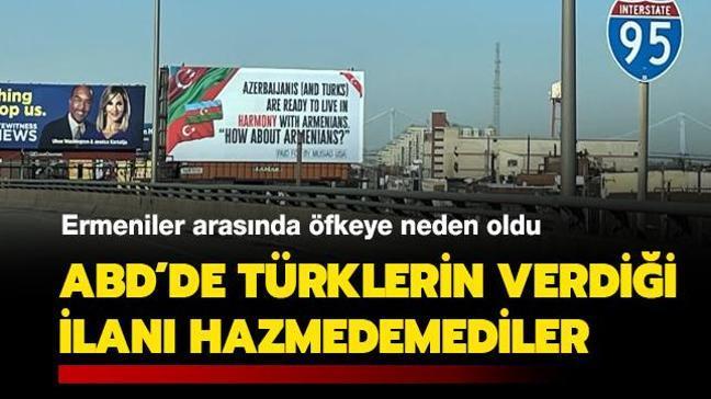 Ermeniler arasında öfkeye neden oldu... ABD'de Türklerin verdiği ilanı hazmedemediler