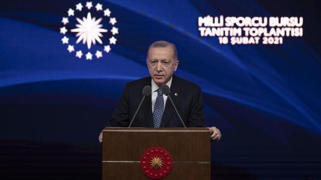 Başkan Erdoğan duyurdu: Sporcu bursu ile genç sporcular yüzde 100 burslu okuyacak