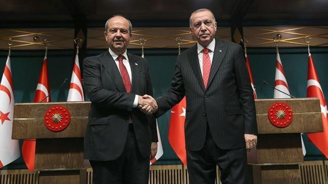 Başkan Erdoğan, KKTC Cumhurbaşkanı ile görüştü