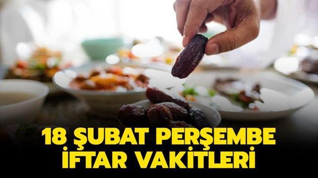 """İftar saati kaçta, ezan ne zaman okunacak"""" 18 Şubat 2021 İstanbul, Ankara, İzmir iftar vakitleri"""