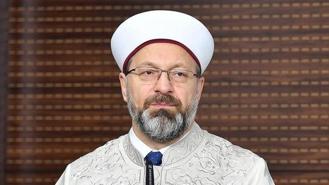 Diyanet İşleri Başkanı Ali Erbaş Regaip Kandili dolayısıyla bir mesaj yayımladı