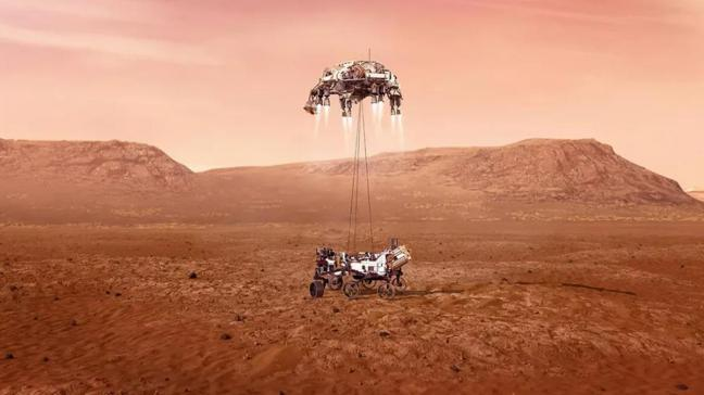 Son dakika haberleri... NASA'nın uzay aracı Perseverance Mars'a iniş yaptı