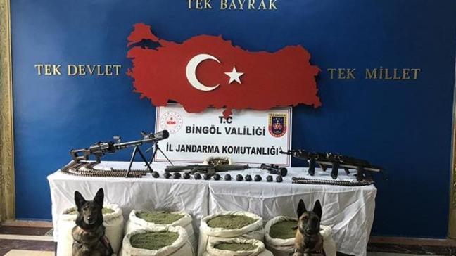 Bingöl'de gerçekleştirilen Eren-4 operasyonunda PKK'ya ait 150 kilo uyuşturucu ele geçirildi
