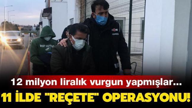 11 ilde usulsüz reçete operasyonu: 46 kişi için gözaltı kararı