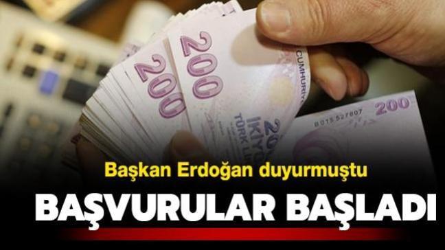 Başkan Erdoğan duyurmuştu: Başvurular başladı