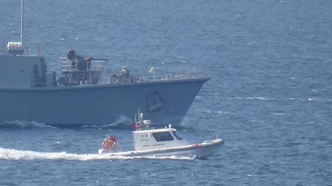 İspanyol mayın avcı gemisi 'Tajo' Marmara Denizi'ne doğru yol aldı