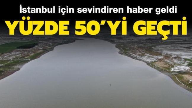 İstanbul için sevindiren haber: Barajlarda doluluk oranı yüzde 50'yi geçti