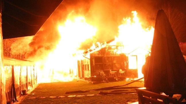 Boğaziçi'nin kafeteryasında yangın