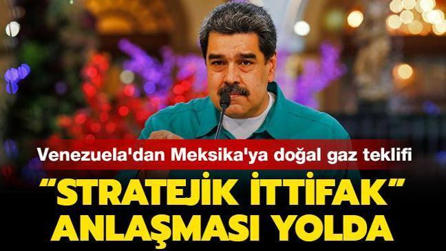 """Venezuela'dan Meksika'ya doğal gaz teklifi: """"Stratejik İttifak"""" anlaşması yolda"""