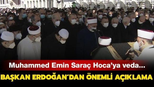 M. Emin Saraç son yolculuğuna uğurlanıyor