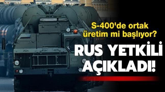 Rus yetkili, Türkiye ile Rusya'nın ortak S-400 üretim ihtimalini değerlendirdi