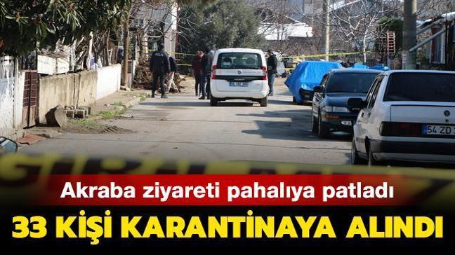 Sakarya'da akraba ziyareti pahalıya patladı: 33 kişi karantinaya alındı