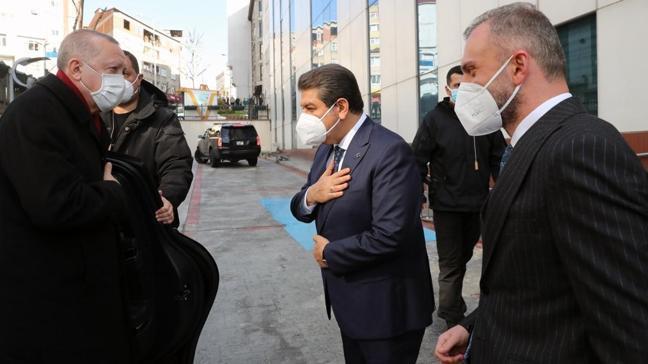 Cumhurbaşkanı Erdoğan Emin Saraç'ın cenazesinin ardından Esenler Belediyesi'ni ziyaret etti