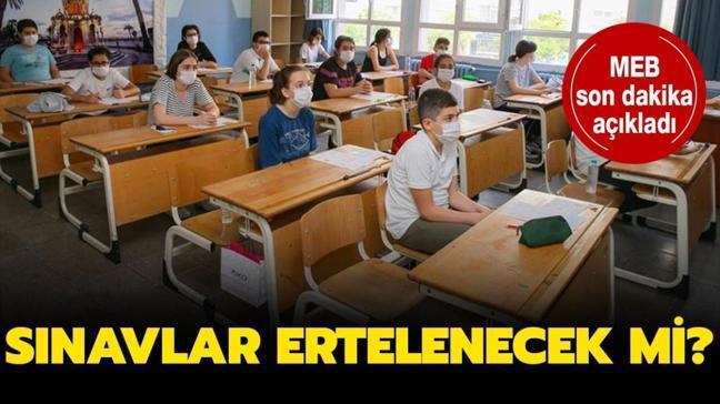 """Okullarda sınavlar nasıl olacak"""" Sınavlar ertelenecek mi"""" MEB son dakika açıklaması..."""