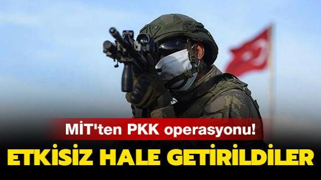 MİT'ten operasyon: PKK'nın istihbarat ve finans faaliyetlerini yürüten 3 örgüt mensubu etkisiz hale getirildi