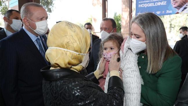 Başkan Erdoğan ve eşi Emine Erdoğan Ayda bebekle bir araya geldi