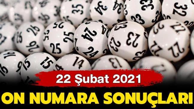On Numara sonuçları 22 Şubat 2021 yayınlandı