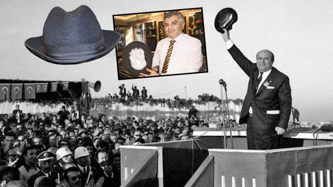 Süleyman Demirel'in şapkasını hacizle kaptı, satıyor