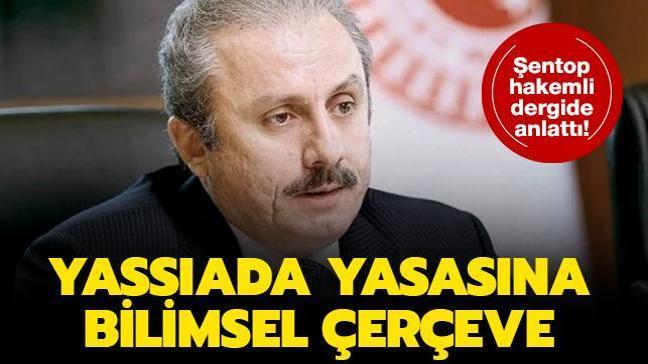 TBMM Başkanı Prof Dr. Mustafa Şentop hakemli dergide anlattı! Yassıada yasasına bilimsel çerçeve