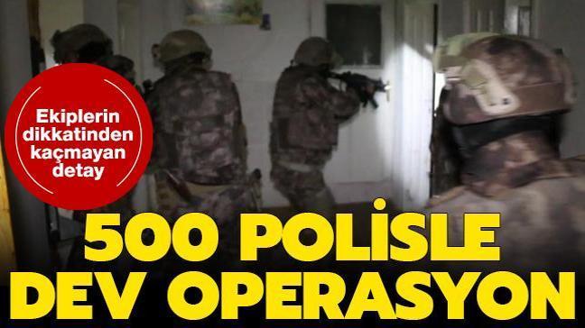 500 polisle operasyon: Suç örgütü çökertildi