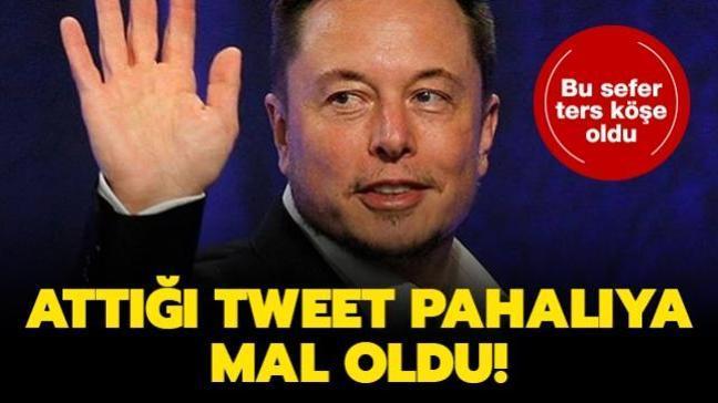 Bu sefer ters köşe oldu... Elon Mask'ın attığı tweet pahalıya mal oldu