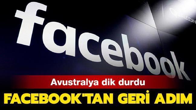 Avustralya dik durdu: Facebook'tan geri adım