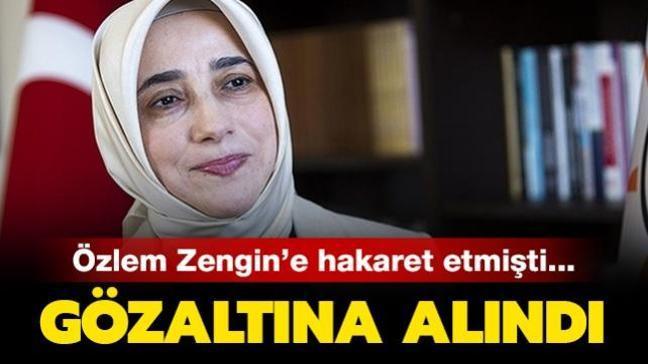 AK Partili Özlem Zengin'e hakaret eden şüpheli Mert Y. gözaltına alındı