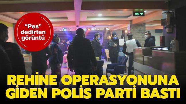 Malatya'da silahlı rehin ihbarına giden polis, 20 kişiyi parti yaparken yakaladı