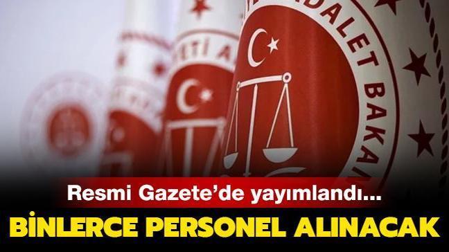 Resmi Gazete'de yayımlandı: Adalet Bakanlığı'na 11 bin 484 yeni personel alımı yapılacak